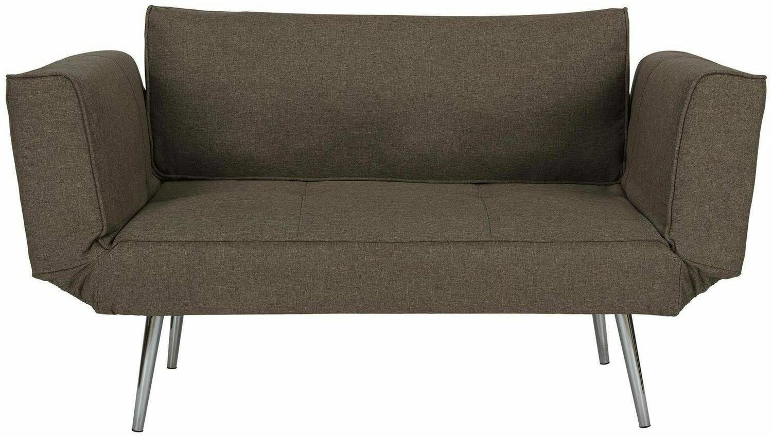 Details about Futon Sofa Bed Sleeper Convertible Loveseat Couch Chair Gray  Home Office Guest