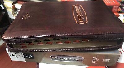 Biblia De Referencia Thompson Cierre Cafe Reina  valera simi piel1960 Con Indice