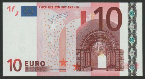 10 euro banknote 2002 UNC Prefix-N Austria sign. Trichet
