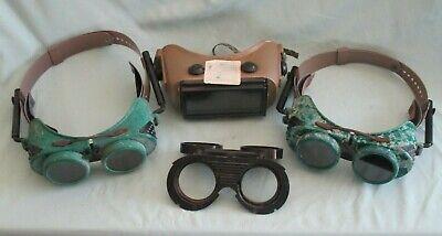 Lot Of Vintage Welding Goggles Lenses Jackson Supergoggle W-70