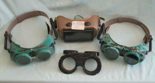 Lot of Vintage Welding Goggles & Lenses Jackson Supergoggle W-70