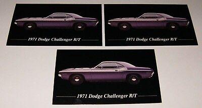 ★★3-1971 DODGE CHALLENGER R/T MAGNETS 71 70 RT 426 HEMI RT 383 440 SIX PACK (1970 Dodge Challenger Rt Plum Crazy Purple)