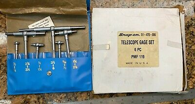Central Tools 51-470-006 6 Piece 12 To 6 Telescoping Gauge Set G124