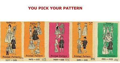 - 9277 9499 9491 9475 4592 Mail Order BARBIE Doll Fabric Sewing Pattern Fashion