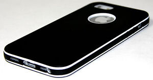 Black-UltraThin-Slim-Design-Soft-Hybrid-PC-Bumper-Case-Cover-For-iPhone-5-5S-G