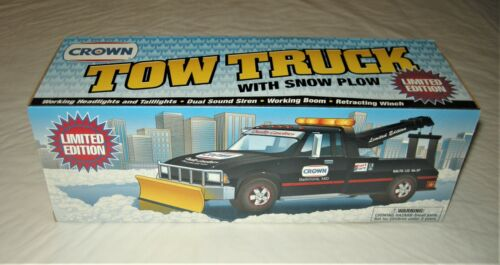 Vintage Crown Tow Truck With Snow Plow Limited Edition ~ 1997 ~ MIB