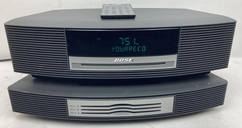 Bose Wave Radio Music System III AM/FM CD Player Alarm w/ 4 CD Changer Graphite