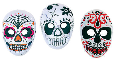 Day of the Dead Mask Dia De Los Muertos Sugar Skull Halloween Costume - Masks Day Of The Dead