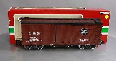 LGB 45670 G Scale Colorado & Southern Boxcar #4567 (Metal Wheels) EX/Box