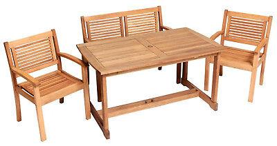 Merxx Gartenmöbel-Set Cordoba 4-teilig, Tisch 110 x 90… |