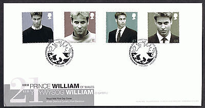 Prince William 21st 2003 First Day Cover - SG2381 to SG2384 Cardiff Cancel