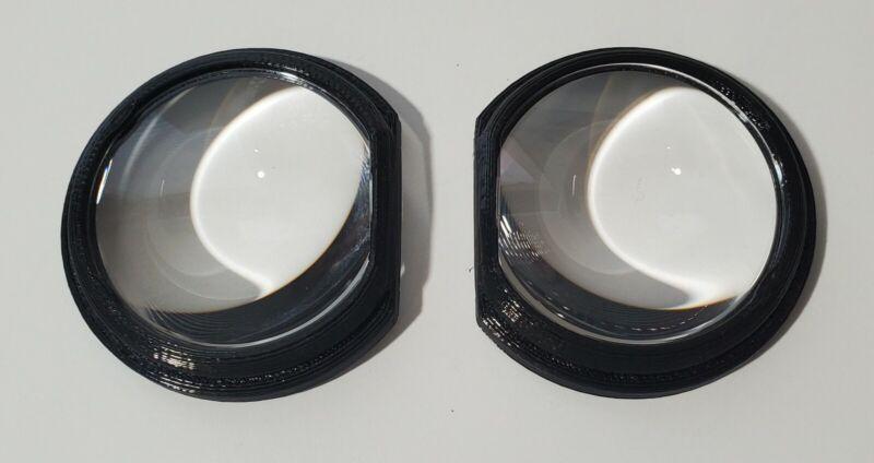 HTC Vive Lens Mod Black Bracket + Gear vr Lenses - 3d printed