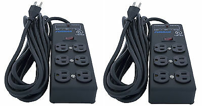2 Units Furman SS-6B Pro Plug 6 Outlet AC Surge Power Strip Conditioning