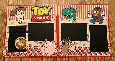 Toy Story Woody and Friends Disney Themed Premade Scrapbook Layout 2 page 12x12