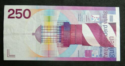 Netherlands 250 Gulden, 1985. aUNC. Lighthouse