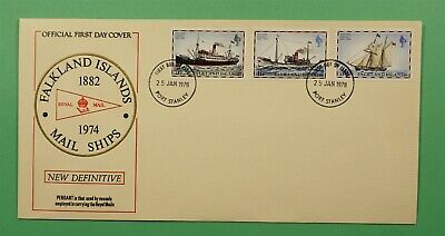 DR WHO 1978 FALKLAND ISLANDS FDC MAIL SHIPS  C241987