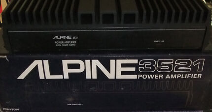 ALPINE 3521 2 CHANNEL POWER AMPLIFIER 70 + 70 WATT