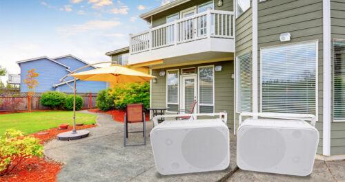 """Pair Rockville HP65S 6.5"""" Outdoor/Indoor Home Theater Speake"""