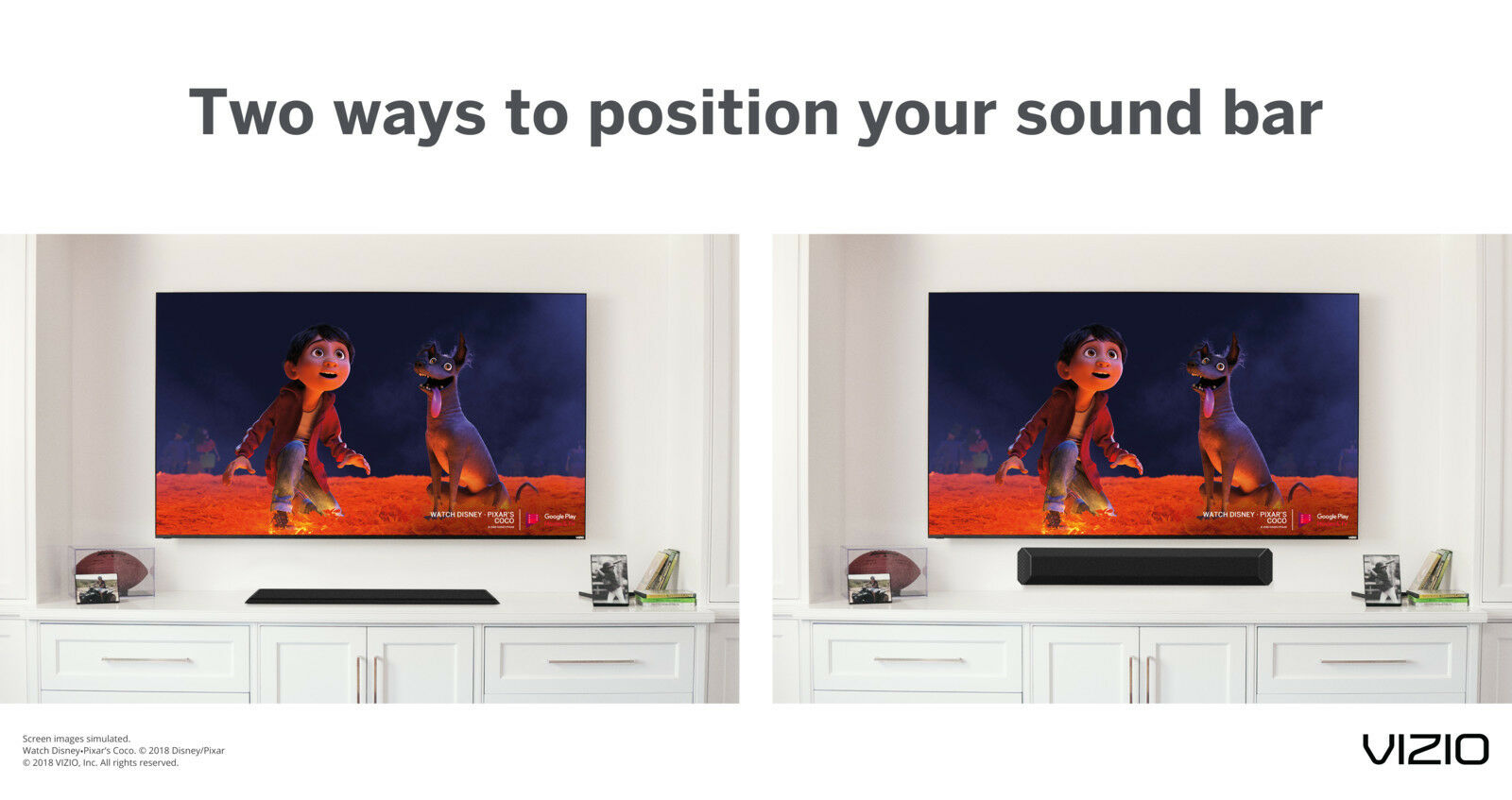 Vizio 36-Inch 2.1 Channel Sound Bar System Home Theater Blue