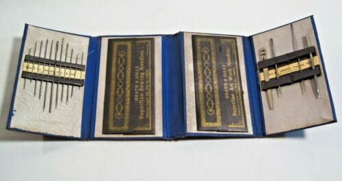 Heath & Gills Vintage Sewing Needle Case Book Trifold  Czechoslovakia 1914
