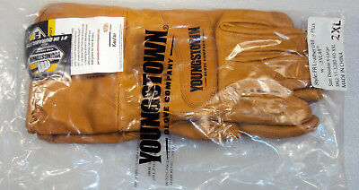 Youngstown Fr Hrc3 Waterproof Leather Utility Plus Gloves Size 2xl W Kevlar Xxl