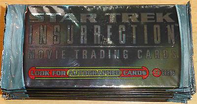 TC Star Trek Movie Insurrection 10 Booster Packs ; mit Autogramm Karte ?