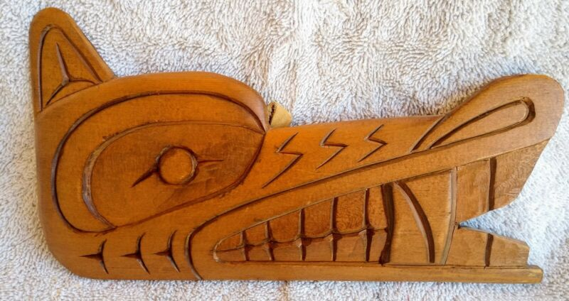 Pacific Northwest Coast First Nations Canada Wolf Wall Hanging Delmar Joseph