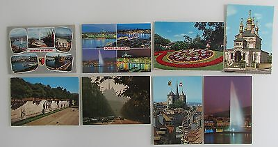 8 x GENF Genève Schweiz Suisse Postkarten AK Lot color, ungelaufen ab ca. ~1970