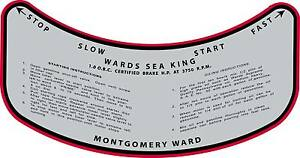 Vintage-antique-1930s-MONTGOMERY-WARD-SEA-KING-OUTBOARD-MOTOR-CONTROL-Decal