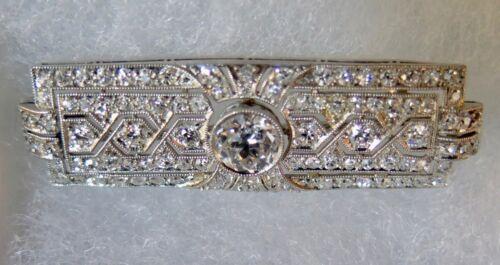 Vintage Art Deco Period Diamond Bar Pin