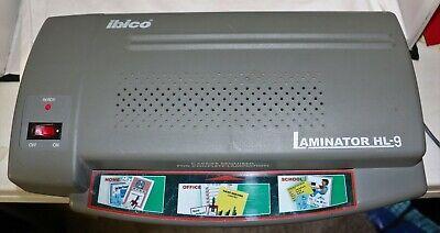 Ibico Laminator Hl-9 120 V 60 Hz 325w Opening 9.5 Wide Measures 15 X 9 X 4