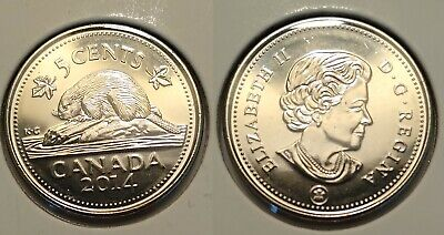 2014 Canada 5 cents coin