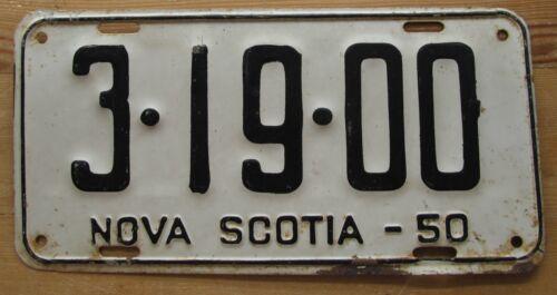Nova Scotia 1950 License Plate NICE QUALITY # 3-19-00