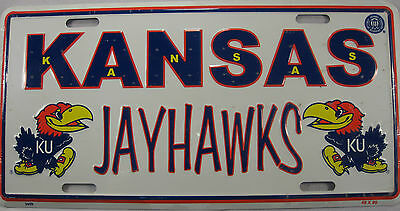 University Of Kansas Metal License Plate Ku Jayhawks Sign New L483