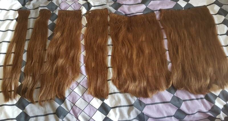 Zala Hair Extensions Quad Weft Extra Thick 18inch Chestnut Brown