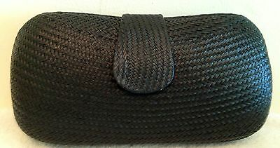 Straw Clutch Black Woven Hand Done Magnet Chain Bag Purse Handbag NEW Clutch Black Straw Handbags