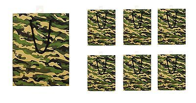 Camouflage Gift Bag in Bulk- Camo Wedding Birthday Party Christmas Present Bags
