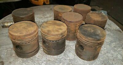 Oliver 60 Tractor Engine Pistons 8 Oem Parts 60 Oliver Pistons