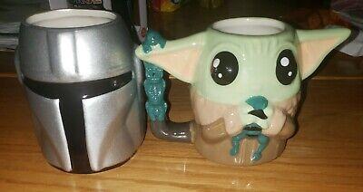 New Star Wars The Mandalorian Helmet and Baby Yoda Sculpted Mug Multi-Colored