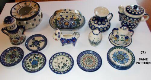 Mixed Lot Polish Pottery Unikat Sanadasz? etc. 16 Pieces