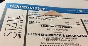 Glenn Shorrock & Brian Cadd (Three tickets) Northmead Parramatta Area Preview