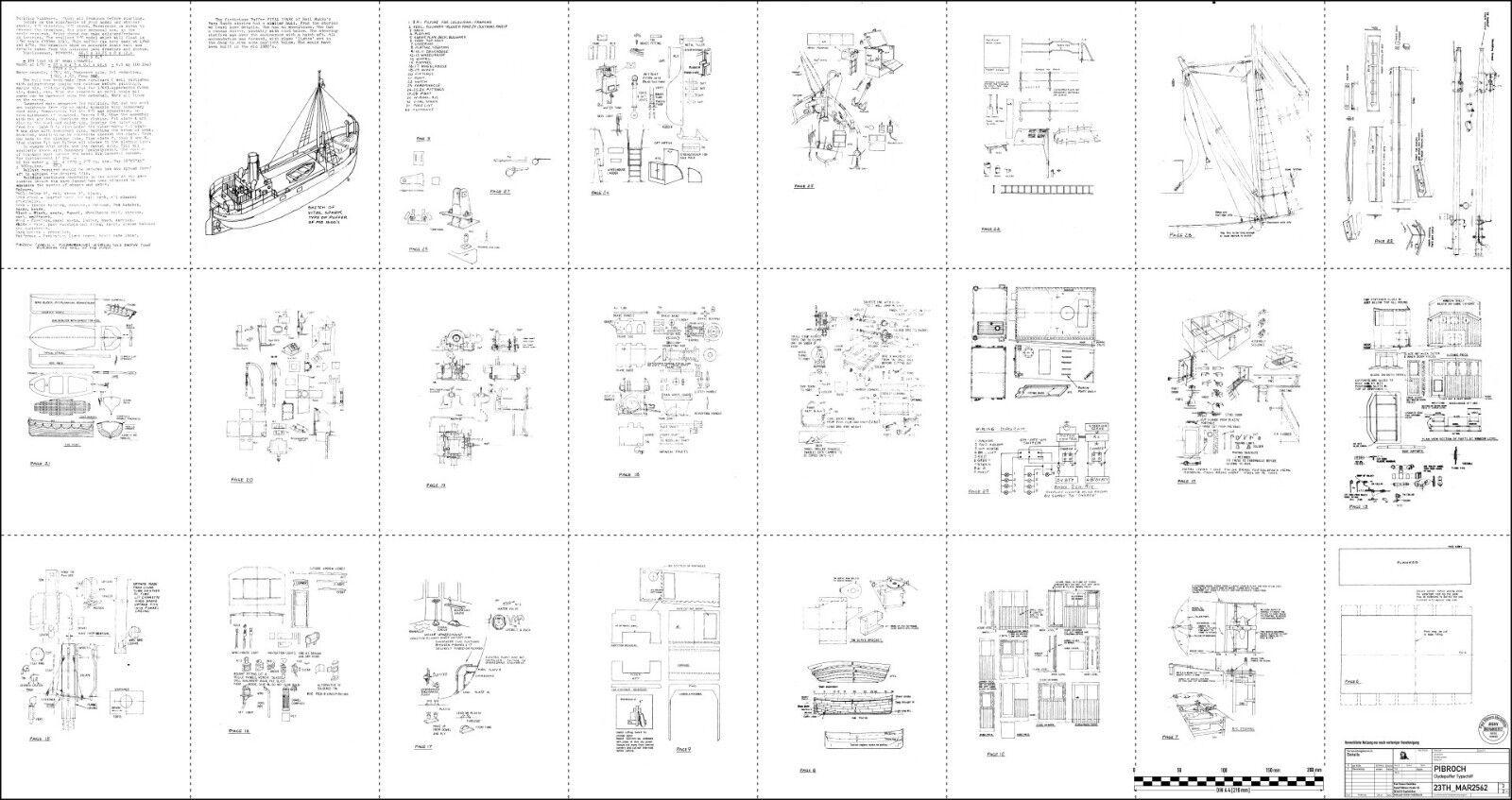 pibroch, clyde puffer. modellbauplan. | ebay