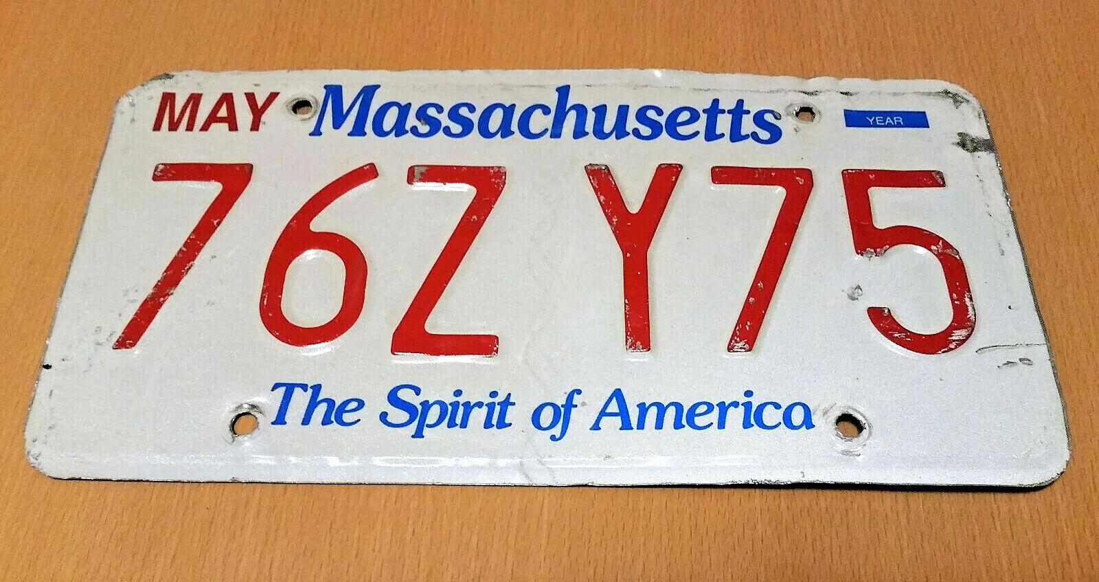 MASSACHUSETTS USA Nummernschild Kennzeichen License Plate