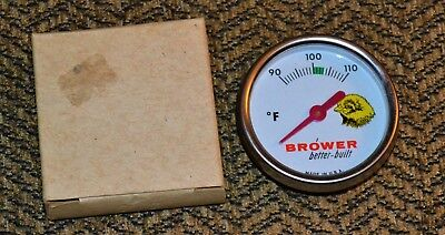 VTG 1950s Chick Egg Incubator Thermometer Brower Better Built NOS