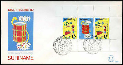 Suriname 1982 Child Welfare M/S FDC First Day Cover #C30245