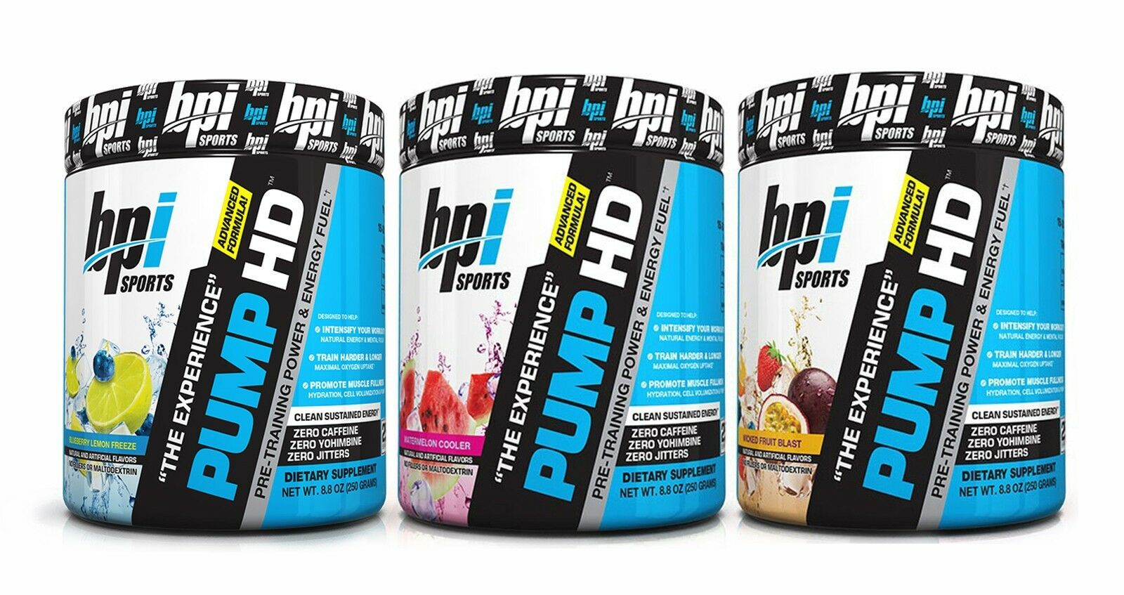 BPI Sports Pump-HD Pre-workout  NEW FLAVORS!