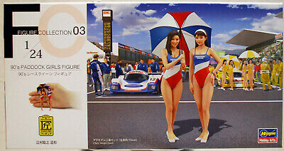 29103 Hasegawa 90´s Paddock Girls Figures 2 Mädels 90er Jahre F 1 1:24