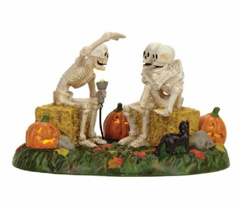 Department 56 Halloween Village Scary Skeleton Stories Light Up Figurine 4056710
