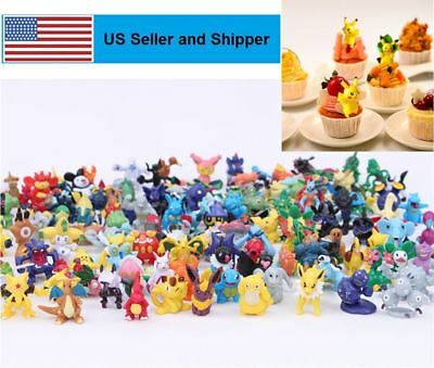 24pc Pokemon Random Mini Action Figures Anime Cute Monster New Toy Gift Lot Sale