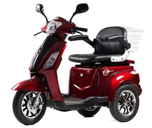 NEW T4B LU-500W Mobility Electric Scooter 48V20AH with Three Speeds, 14/22/32kmph Condtion: NEW minor scratches , Red